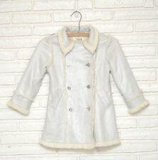 The Children's Place Girl's Faux Fur Suede Warm Winter Coat Sz 4 XS 4T Jacket