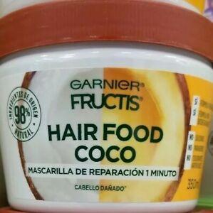GARNIER FRUCTIS HAIR FOOD COCO PARA CABELLO DAÑADO - 350ml c/u - ENVIO GRATIS