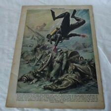 """Journal Italien  """" La domenica de corriere """"1957 plongeur ,ours pôle nord..."""