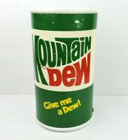 "Vintage Mountain Dew 9.5"" Can Coin Bank Display Give Me A Dew! USA Pepsico 80's"