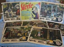 "Set of 8 Original 1928 Lobby Cards ""The Riding Renegade"" Bob Steele FBO Pictures"