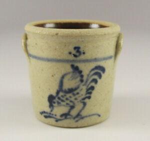 Miniature #3 CROCK Stoneware JANE GRABER Pottery IGMA Artist 1:12 Scale CHICKEN