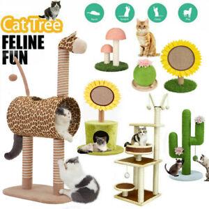 S-L Cat Scratching Post Tree Cat Furniture Scratcher Climbing Tower Sisal Stand