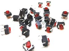 25pcs 6mm * 6mm * 5mm Red Button Tactile Momentary Switch - SPST