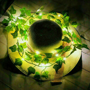 2M 20LED Leaves Ivy Leaf Garland Fairy String Lights Xmas Party Garden Lamps UK