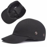 Black Baseball Bump Caps Lightweight Safety Hard Hat Head Protection Protect Cap