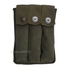 WWII WW2 US Amry Thompson Magazine Pouch 3 Cell 30 AMMO POUCH Rounds Color GREEN