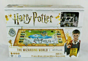 Harry Potter 4D Large Puzzle The Wizarding World 892 Pieces Cityscape Licensed