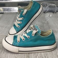 Converse All Star Turquoise Canvas Boys Girls Tennis Sneaker Shoe Size 6C