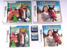Spiele: ABENTEUER REITERHOF TEIL 1 + 2 / PFERDE SPIELE / Nintendo DS + Lite