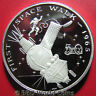 1989 MARSHALL ISLANDS $50 1oz SILVER CAMEO PROOF 1965 FIRST SPACE WALK ASTRONAUT
