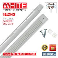 White 5 x AirAway Trickle Slot Vents 260/410mm Ventilation UPVC & Timber Windows