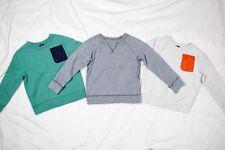 Baby Gap Pullover Crewneck Sweatshirt Tops Boys 5 Years Gray Green - Lot of 3