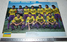 CLIPPING POSTER FOOTBALL 1992-1993 TOULOUSE FC Téfécé TFC STADIUM