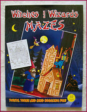WITCHES & WIZARDS MAZES BOOK - KIDS Activity Maze Fun 27 x 21cm (32 Pgs) NEW 4+