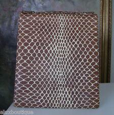 Limited Edition ROCHAS Paris HANDBAG Leather Purse Clutch Brown Beige Bag $5300+