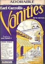 "Dorothy Knapp ""EARL CARROLL VANITIES"" Fifth Edition 1926 Broadway Sheet Music"