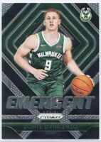 2018-19 Panini Prizm Basketball Emergent #17 Donte DiVincenzo RC Milwaukee Bucks