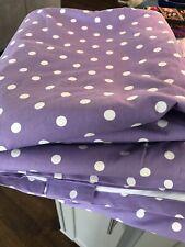 2 Pottery Barn Pb Teen Dottie Dots Blackout Drape 108 Purple Panels Drapes Ec