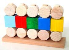 """Steckspiel Kinder """"Wand"""" Holz 16 Teile Motorikspielzeug Entwicklungsspielzeug"""