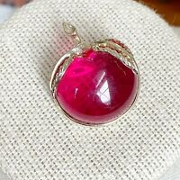 Vintage Sarah Coventry Red Apple Pin Gold Tone Metal Costume Jewelry Estate