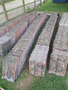 1100 Marley Double Roman Concrete Roof Tiles 15 Ridge Tiles Reclaims - £1 each