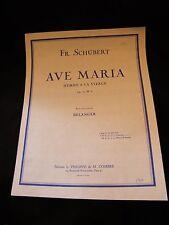 Partitura Ave Maria Hymne à la Virgen Fr Schubert Bélanger Grande Formato