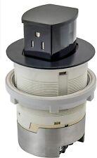 Hubbell RCT201BK 15A 125V Tamper Resistant Black Pop-Up Countertop Receptacle