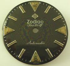 Vintage Zodiac Seawolf Automático Metal Esfera - Original Acabado - No