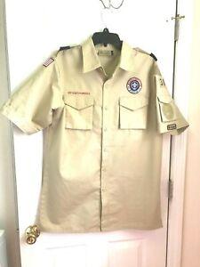 Boy Scout  BSA Uniform Shirt Size Adult MEDIUM  CHEST 48''