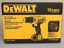DEWALT 12V MAX DCD710S2 Li-Ion 3/8 in. Keyless Chuck Drill Driver Kit / 2 Batter