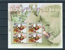 PAPUA NEW GUINEA (PNG), SC 1188, 2005 Pope John Paul II souvenir sheet, MNH