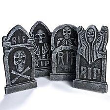 "4-Pack 17"" Foam RIP Graveyard Tombstone Halloween Decorations Halloween Décor"