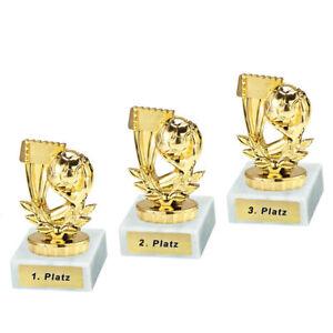 3 Handball-Pokale mit 1.2.und 3.Platz oder Wunschgravur (P0352)