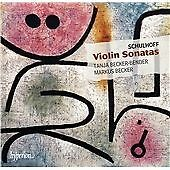 CD of  Violin Sonatas by Schulhoff *NEW* CDA67833 Shrink Wrapped