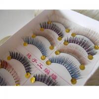 10 Pairs Cross Natural Colorful Eye Lashes Extension Handmade False Eyelashes