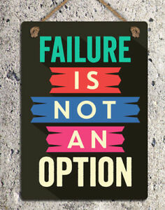 Failure is not an Option Retro Metal Tin Signs Iron Poster Art Wall Decor