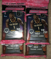 (2) 2019-20 Mosaic Prizm Cello Pack  - Zion, Ja - NEW! Sealed