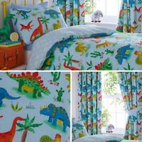 Dinosaurs Duvet Covers Blue Jurassic Kids Reversible Quilt Cover Bedding Sets