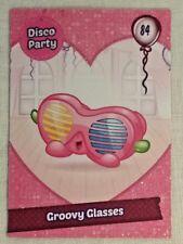 Shopkins Season 7 Card 84 Groovy Glasses Glitter card - Free Post