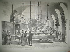 TUILERIES CUISINE PAVILLON DE FLORE RUE DE LA HARPE JEU CLANDESTIN GRAVURES 1870