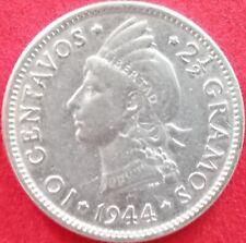 DOMINICAN REPUBLIC 10 CENTAVOS 1944 SILVER Dominicana Dominikanische Dominicaine
