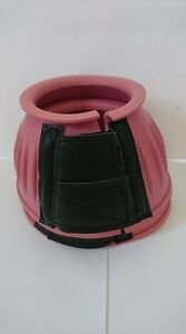 JHL Rubber Overreach Boots with Velcro Fastening - Size Small - Colour Pink