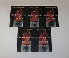 LOT OF 5 A CLOCKWORK ORANGE ANTHONY BURGESS TEACHER GUIDED READING CLASS SET GC