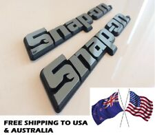 *USA, AUS OFFER* TWO Snap On Tools 3D Chrome Badges Tool Box Sticker Decal