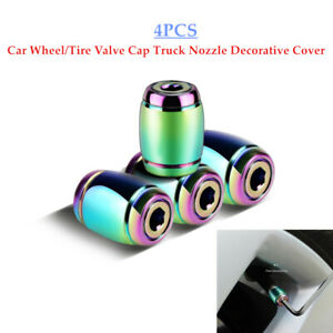 4PCS Car Wheel/Tire Valve Cap Truck Nozzle Cover Anti-theft Air Dust Cap Durable