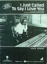 STEVIE WONDER SHEET MUSIC, 1984 (I JUST CALLED TO SAY I LOVE YOU