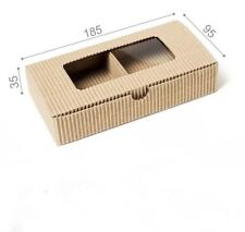 Kraft Paper DIY Gift Box With Clear PVC Window Cookie Cake  Soap Packaging 10pcs