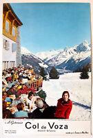 COL DE VOZA – MONT-BLANC – SAINT-GERVAIS-  AFFICHE ORIGINALE – TRÈS RARE - 1960