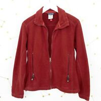 Patagonia Fleece Jacket Womens Size Small Red Full Zip Zippered Pockets Radiant